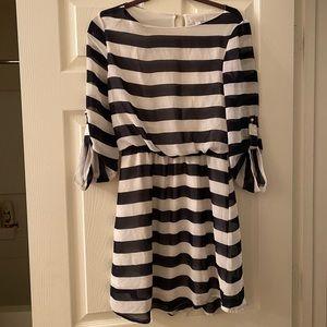 Striped Chiffon Dress
